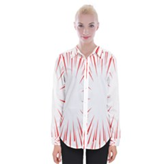 Line Red Sun Arrow Womens Long Sleeve Shirt