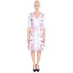 Line Red Sun Arrow Wrap Up Cocktail Dress