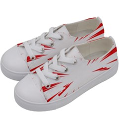 Line Red Sun Arrow Kids  Low Top Canvas Sneakers by Mariart