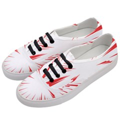 Line Red Sun Arrow Women s Classic Low Top Sneakers by Mariart