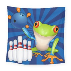 Tree Frog Bowling Square Tapestry (large) by crcustomgifts