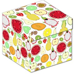 Mango Fruit Pieces Watermelon Dragon Passion Fruit Apple Strawberry Pineapple Melon Storage Stool 12   by Mariart