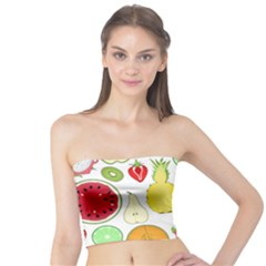 Mango Fruit Pieces Watermelon Dragon Passion Fruit Apple Strawberry Pineapple Melon Tube Top By Mariart