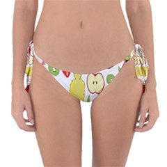 Mango Fruit Pieces Watermelon Dragon Passion Fruit Apple Strawberry Pineapple Melon Reversible Bikini Bottom by Mariart