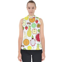 Mango Fruit Pieces Watermelon Dragon Passion Fruit Apple Strawberry Pineapple Melon Shell Top by Mariart