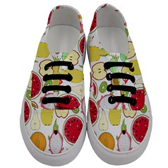Mango Fruit Pieces Watermelon Dragon Passion Fruit Apple Strawberry Pineapple Melon Men s Classic Low Top Sneakers