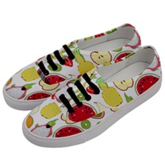 Mango Fruit Pieces Watermelon Dragon Passion Fruit Apple Strawberry Pineapple Melon Men s Classic Low Top Sneakers by Mariart