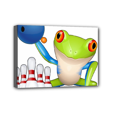 Tree Frog Bowler Mini Canvas 7  X 5  by crcustomgifts