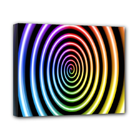 Hypnotic Circle Rainbow Canvas 10  X 8  by Mariart