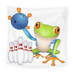 Tree Frog Bowler Square Tapestry (large) by crcustomgifts