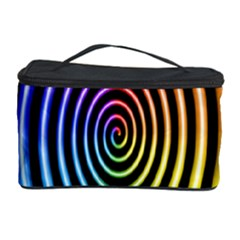 Hypnotic Circle Rainbow Cosmetic Storage Case by Mariart