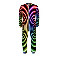 Hypnotic Circle Rainbow Onepiece Jumpsuit (kids) by Mariart