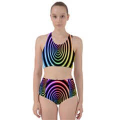 Hypnotic Circle Rainbow Racer Back Bikini Set by Mariart