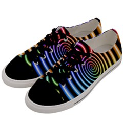 Hypnotic Circle Rainbow Men s Low Top Canvas Sneakers by Mariart