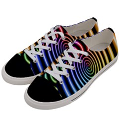 Hypnotic Circle Rainbow Women s Low Top Canvas Sneakers by Mariart