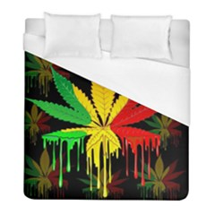 Marijuana Cannabis Rainbow Love Green Yellow Red Black Duvet Cover (full/ Double Size)