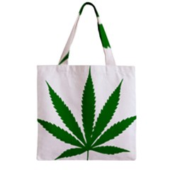 Marijuana Weed Drugs Neon Cannabis Green Leaf Sign Zipper Grocery Tote Bag by Mariart