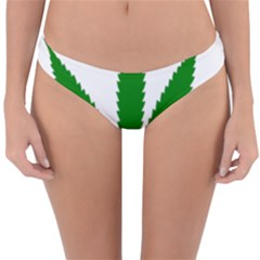 Marijuana Weed Drugs Neon Cannabis Green Leaf Sign Reversible Hipster Bikini Bottoms by Mariart