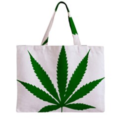 Marijuana Weed Drugs Neon Cannabis Green Leaf Sign Medium Tote Bag by Mariart
