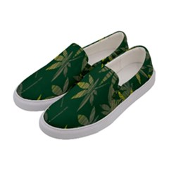 Marijuana Cannabis Rainbow Love Green Yellow Leaf Women s Canvas Slip Ons by Mariart