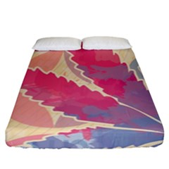Marijuana Heart Cannabis Rainbow Pink Cloud Fitted Sheet (king Size) by Mariart