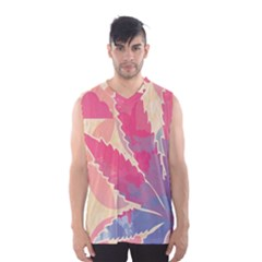 Marijuana Heart Cannabis Rainbow Pink Cloud Men s Basketball Tank Top