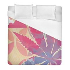 Marijuana Heart Cannabis Rainbow Pink Cloud Duvet Cover (full/ Double Size)