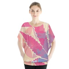 Marijuana Heart Cannabis Rainbow Pink Cloud Blouse by Mariart