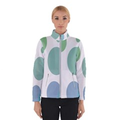 Polka Dots Blue Green White Winterwear by Mariart