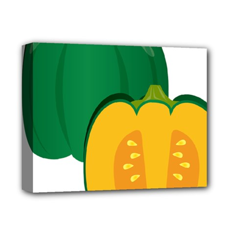 Pumpkin Peppers Green Yellow Deluxe Canvas 14  X 11  by Mariart