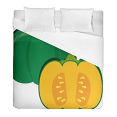 Pumpkin Peppers Green Yellow Duvet Cover (full/ Double Size) by Mariart