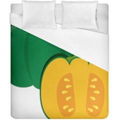 Pumpkin Peppers Green Yellow Duvet Cover (california King Size) by Mariart