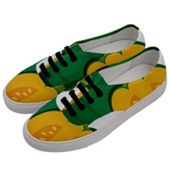 Pumpkin Peppers Green Yellow Men s Classic Low Top Sneakers by Mariart