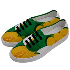 Pumpkin Peppers Green Yellow Women s Classic Low Top Sneakers by Mariart