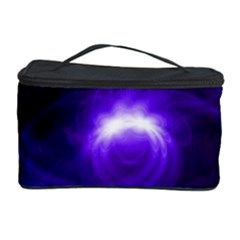 Purple Black Star Neon Light Space Galaxy Cosmetic Storage Case by Mariart