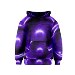 Purple Black Star Neon Light Space Galaxy Kids  Pullover Hoodie by Mariart
