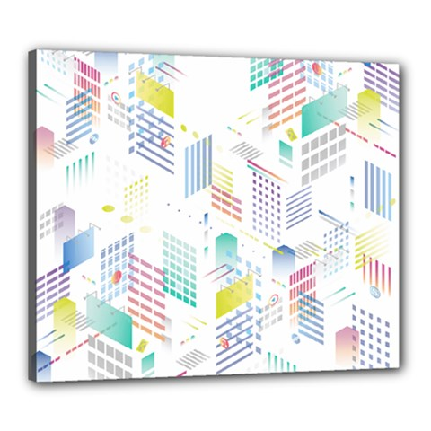 Layer Capital City Building Canvas 24  X 20  by Mariart