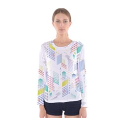 Layer Capital City Building Women s Long Sleeve Tee by Mariart