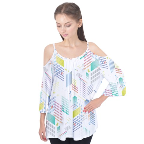 Layer Capital City Building Flutter Tees by Mariart