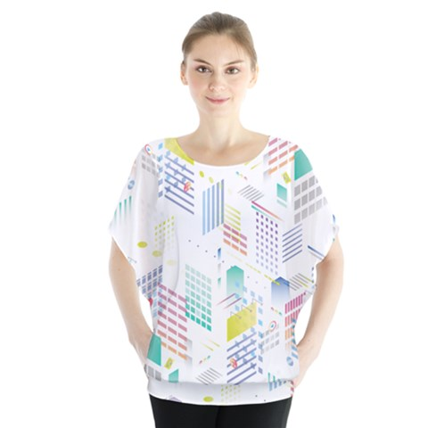Layer Capital City Building Blouse by Mariart
