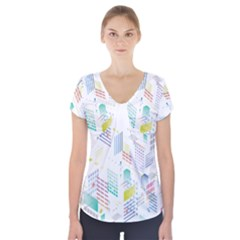 Layer Capital City Building Short Sleeve Front Detail Top
