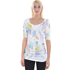 Layer Capital City Building Wide Neckline Tee by Mariart