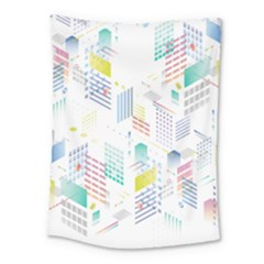 Layer Capital City Building Medium Tapestry by Mariart