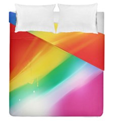 Red Yellow White Pink Green Blue Rainbow Color Mix Duvet Cover Double Side (queen Size) by Mariart