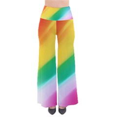 Red Yellow White Pink Green Blue Rainbow Color Mix Pants by Mariart