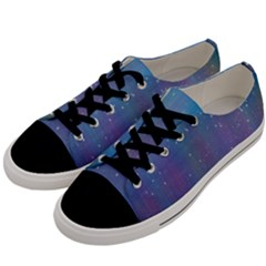 Rain Star Planet Galaxy Blue Sky Purple Blue Men s Low Top Canvas Sneakers by Mariart
