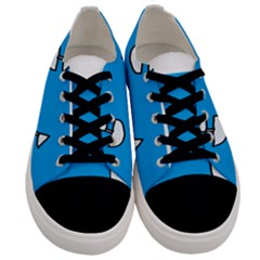 Ship Sea Beack Sun Blue Sky White Water Men s Low Top Canvas Sneakers