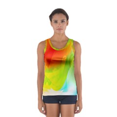 Red Yellow Green Blue Rainbow Color Mix Sport Tank Top  by Mariart