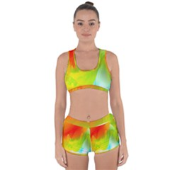 Red Yellow Green Blue Rainbow Color Mix Racerback Boyleg Bikini Set by Mariart