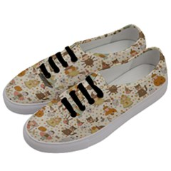 Sinister Helloween Cat Pumkin Bat Ghost Polka Dots Vampire Bone Skull Men s Classic Low Top Sneakers by Mariart